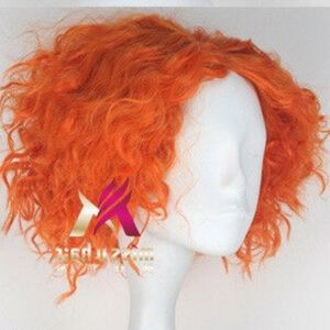 Orange Halloween/costume wig